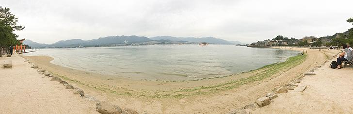 宮島のパノラマ