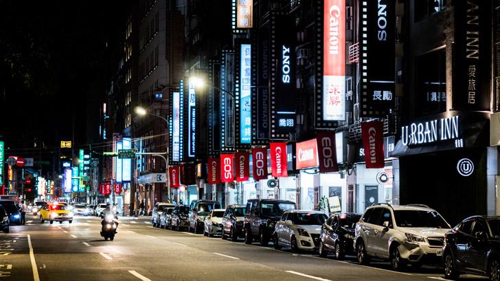 台湾のカメラ街