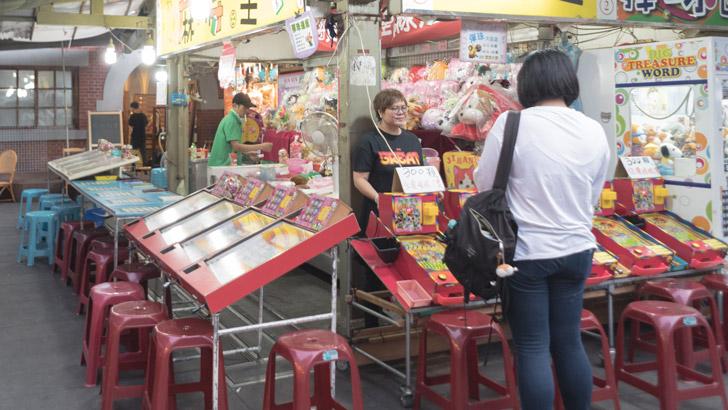 台湾の夜市のスマートボール