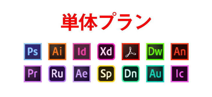 Adobe単体プラン