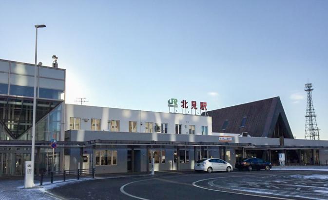北見駅の正面